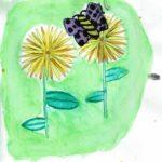 Aquarel·les dels paisatges naturals dels Ullals fetes per l'alumnat